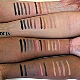 Urban Decay Nocturnal Shadow Box Palette Swatched on All Skin Tones