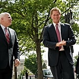 John McCain and Prince Harry made their way to Capitol Hill together on Thursday.