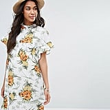Smock Dress in Vintage Tropical Print