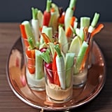 Individual Hummus and Crudités Shots