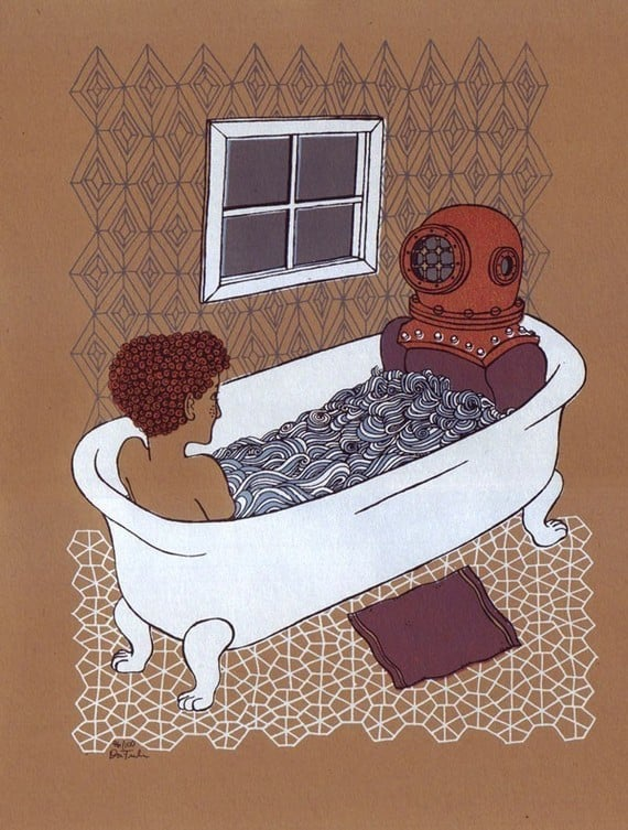 Add Some Bath Appropriate Art To Your Wall Like This Quirky Deep Sea Etsy Finds Perfect Bathroom Updates Popsugar Home Photo 7