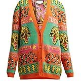 Gucci Tiger and Kingsnake Wool-Jacquard Cardigan