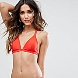South Beach Embroidered Tape Back Triangle Bikini Top