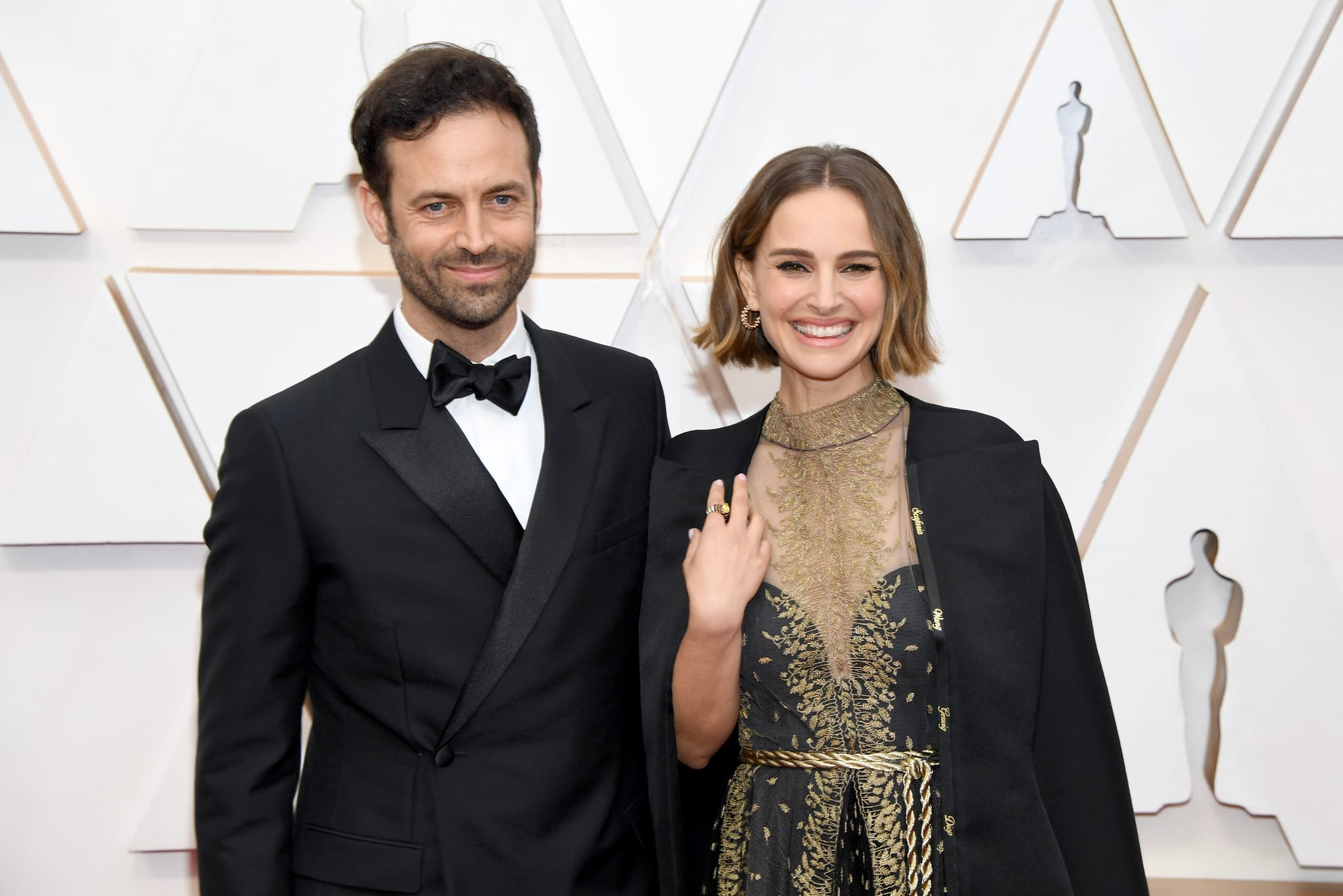 HOLLYWOOD, CALIFORNIA - FEBRUARY 09: (L-R) Choreographer Benjamin Millepied and Natalie Portman attend the 92nd Annual Academy Awards at Hollywood and Highland on February 09, 2020 in Hollywood, California. (Photo by Kevin Mazur/Getty Images)