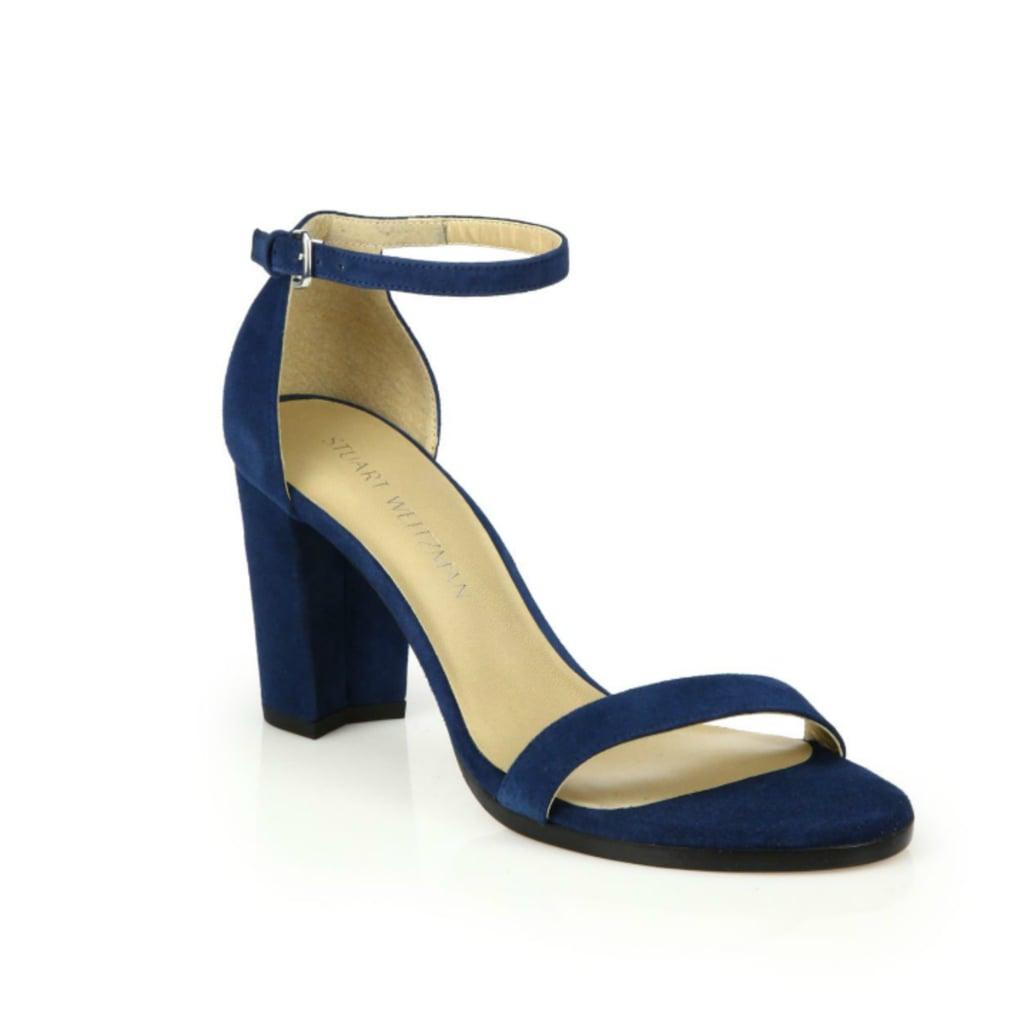 Stuart Weitzman NearlyNude Suede Block-Heel Sandals ($398)