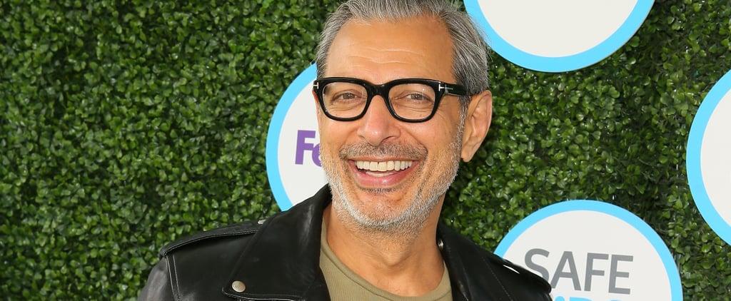 Jeff Goldblum in a Leather Jacket
