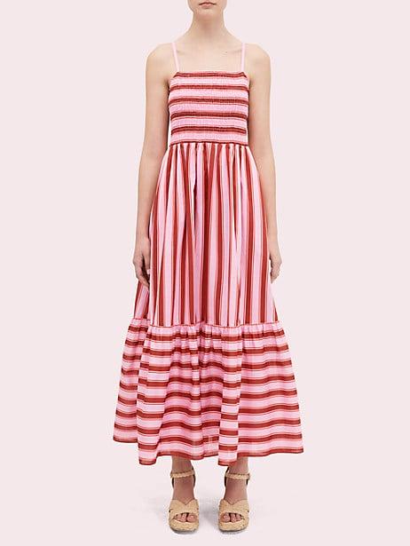 Calais Stripe Smocked Dress