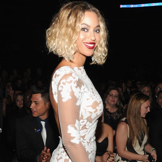2014 Grammy Awards Style: Beyonce In White Michael Costello