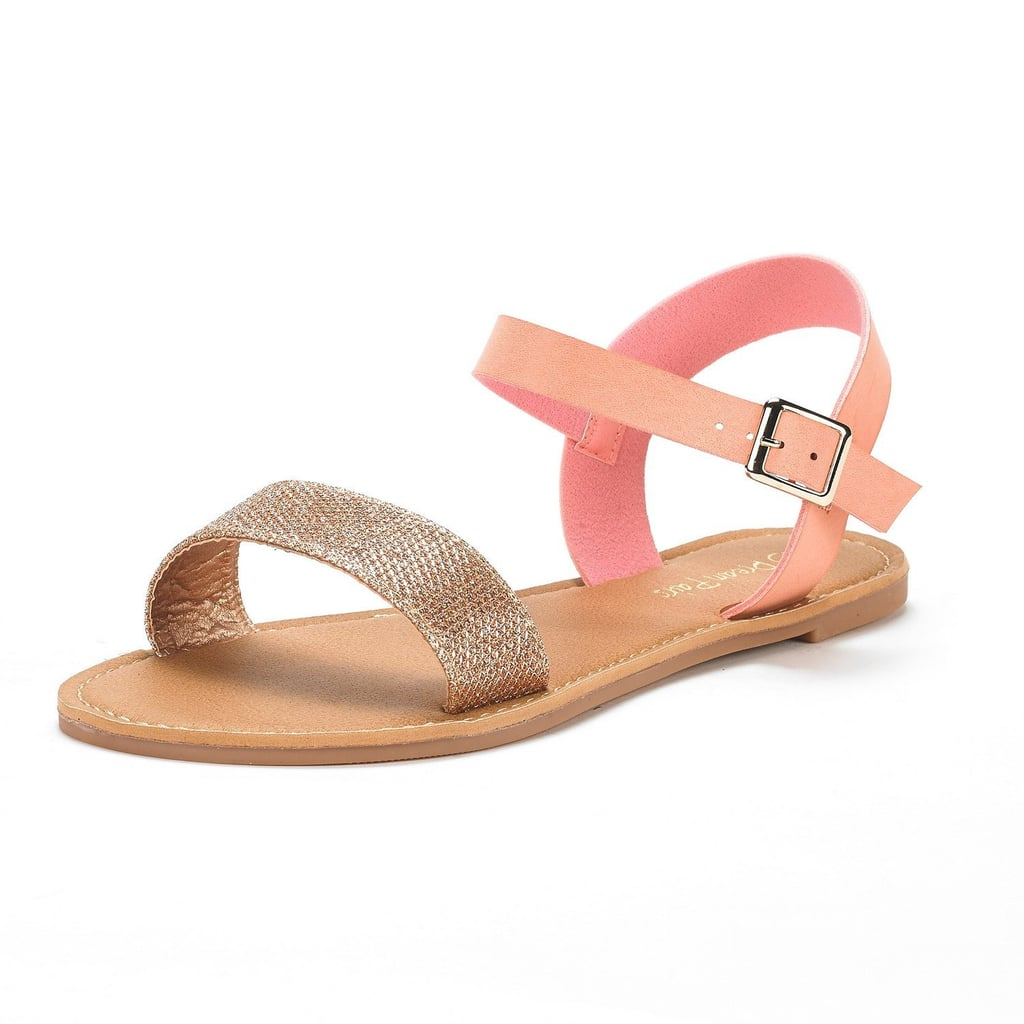 Dream Pairs Ankle Strap Flexible Flat Sandals