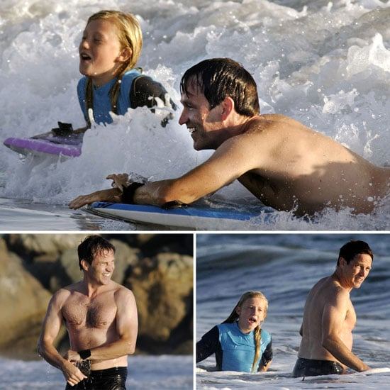 Stephen Moyer Shirtless at the Beach With Lilac
