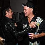 Dennis Quaid and Channing Tatum at the 2020 Republic Records Grammys Afterparty