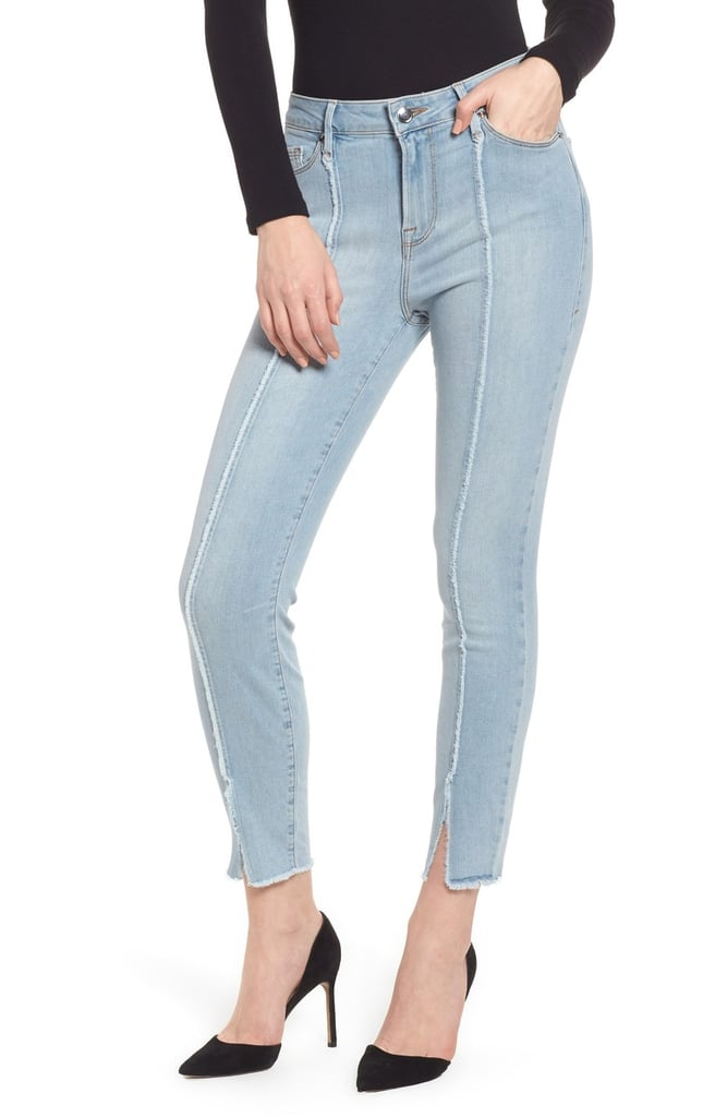 206b505a2aeed Good American Good Legs High Waist Raw Seam Crop Skinny Jeans | Best ...