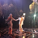 Khloé and Kris showed off their gowns on the dance floor.