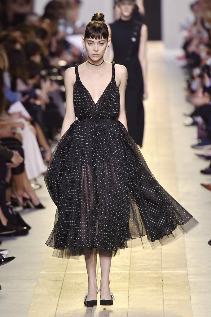 Plain black chokers peppered the runway at Dior's Spring/Summer 2017 show at Paris Fashion Week.