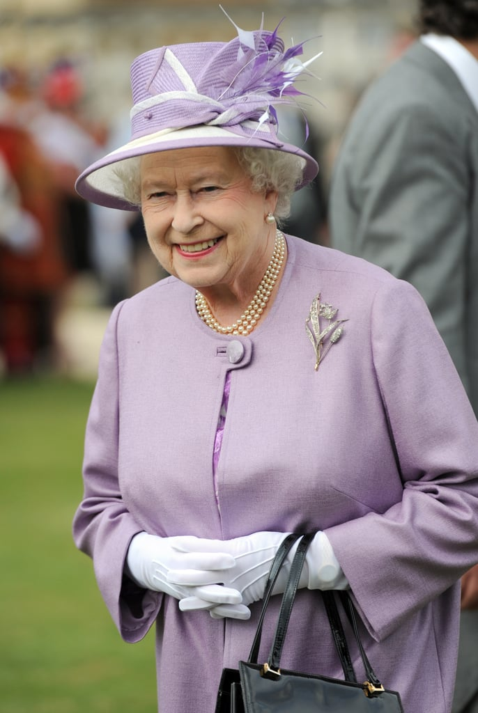 The Queen hosted a garden party at Buckingham Palace in London in May 2012.