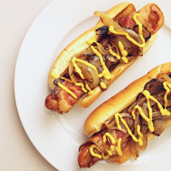 Man Vs Food Hot Dog Wrapped In Bacon