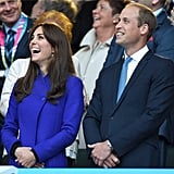 When Will and Kate Cracked Up in the Stands During a Rugby Match