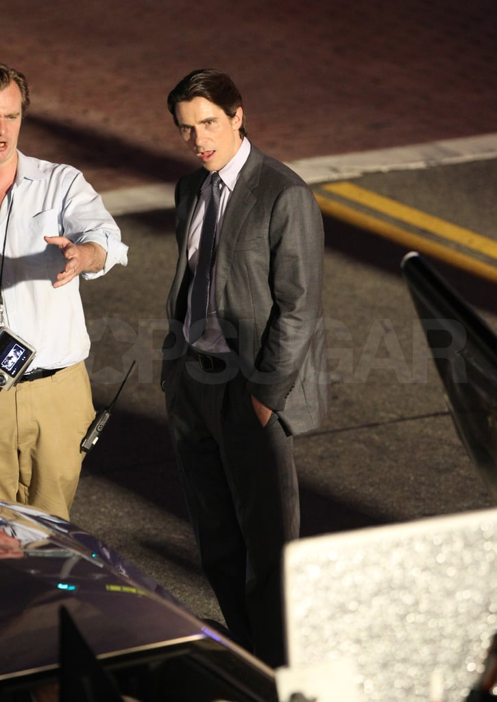 Anne Hathaway and Christian Bale Get Into Character For The Dark Knight