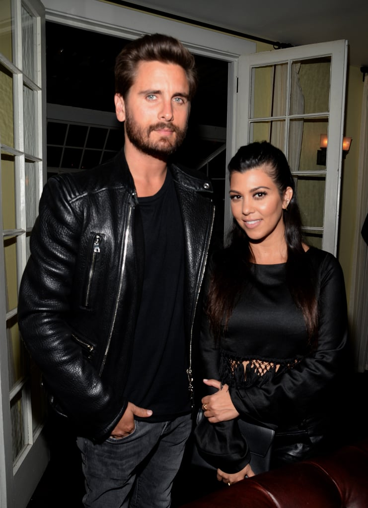 Kourtney brought along Scott Disick, who kept it cool in his leather jacket.