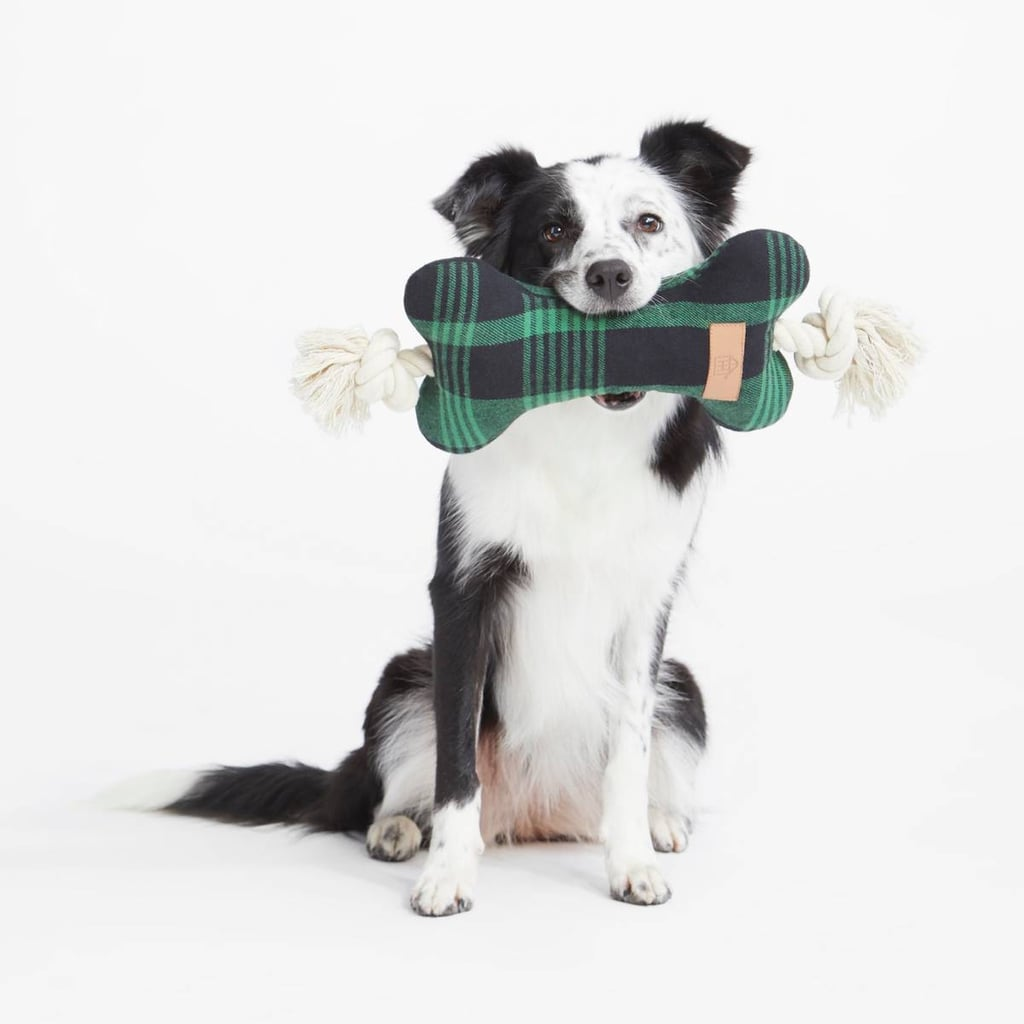 Hearth & Hand With Magnolia Plaid Bone Pet Toy