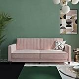Nia Velvet Square Arm Sleeper Sofa