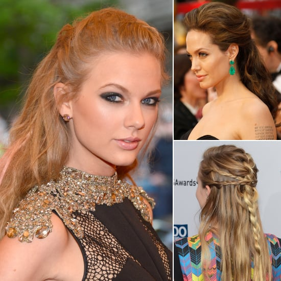 Celebrity Half-Up Hairstyle Pictures For Wedding and Prom