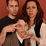 Costars Sam Rockwell, Maya Rudolph, and River Alexander couldn't help but make some funny faces at Sundance 2013.