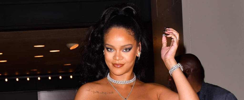 Rihanna's Black and Gold Drip Nail Polish
