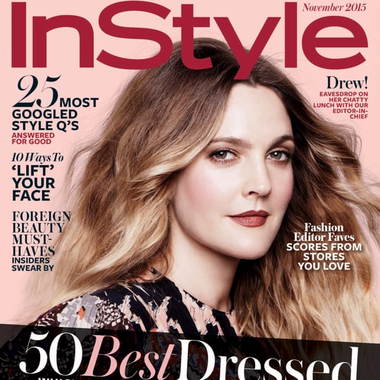 Drew Barrymore in InStyle Magazine November 2015