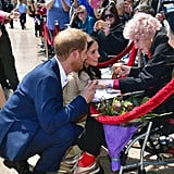 Day 1: Prince Harry introducing Meghan to his biggest fan, Daphne Dunn