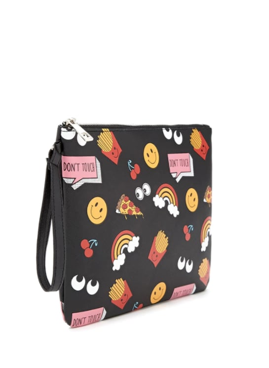Don't Touch Happy Face Clutch ($10)