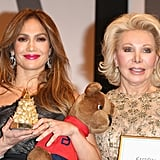 Jennifer Lopez accepted an honor at the UNESCO Charity Gala.