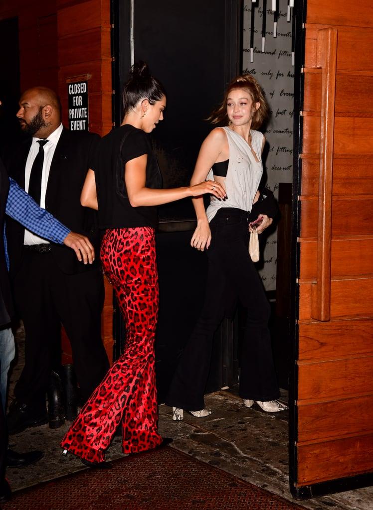 9561797f8682 Kendall Jenner Red Animal Print Pants New York Fashion Week | POPSUGAR  Fashion