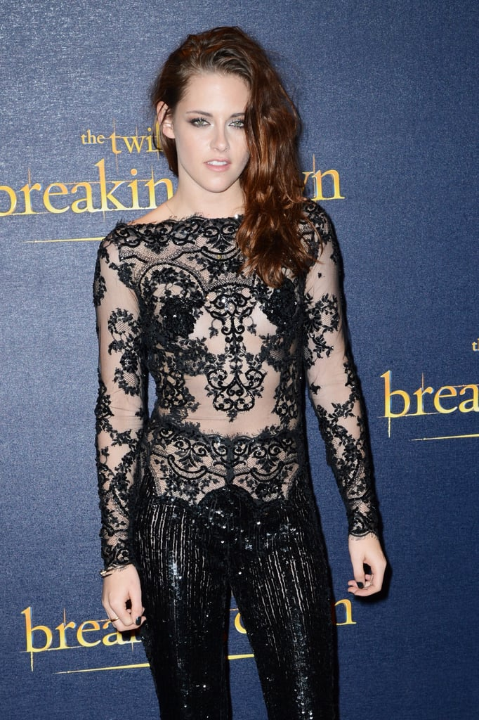 Kristen Stewart wore a sexy black lace number to the UK premiere of Breaking Dawn Part 2 in November 2012 in London.