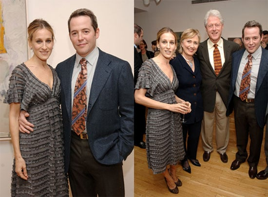 SJP and Matthew Hanging with the Clintons