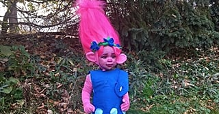 For Just $30, This Mom Created the Most Incredible Trolls Costume and Won Halloween
