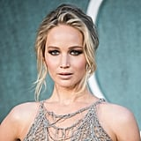 Jennifer Lawrence's Sheer, Sexy Dress Hung Off Her Like a Spider's Web