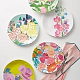 Anthropologie Paint + Petals Melamine Dinner Plate