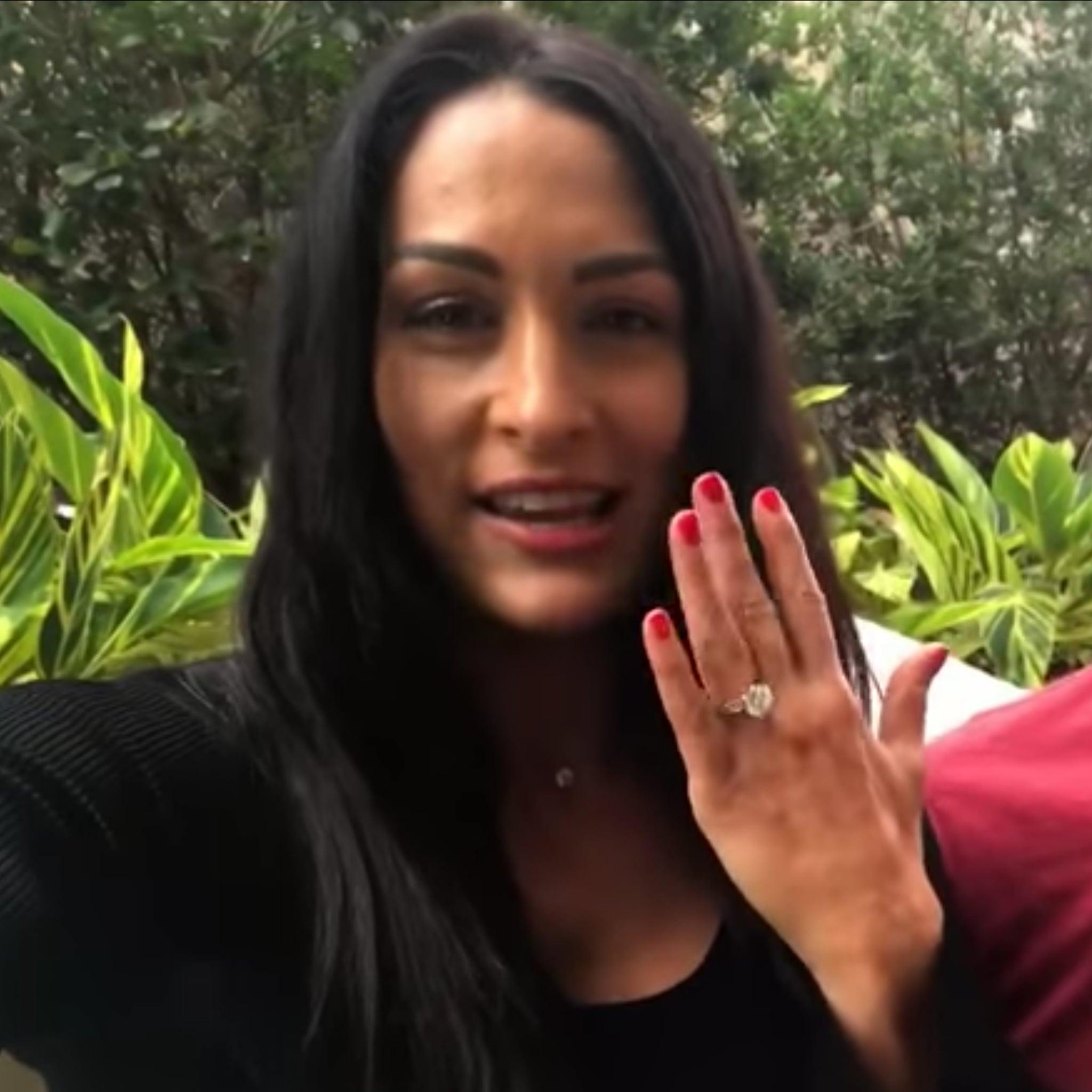Nikki Bella bella's wedding ring Nikki Bella and John Cena Talk About Engagement Ring Meaning