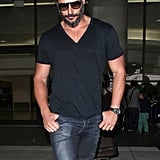Joe Manganiello walked out of LAX.