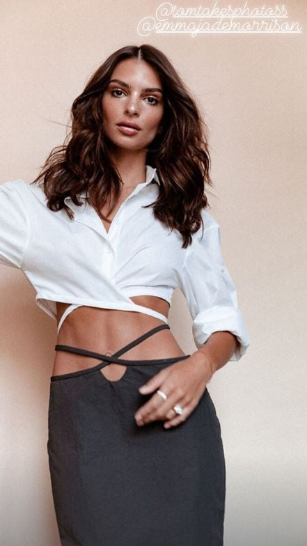 Emrata Wearing Christopher Esber