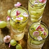 Gooseberry Elderflower Prosecco Cocktail