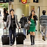 Ian Somerhalder and Nina Dobrev jetted out of LA right after the People's Choice Awards.