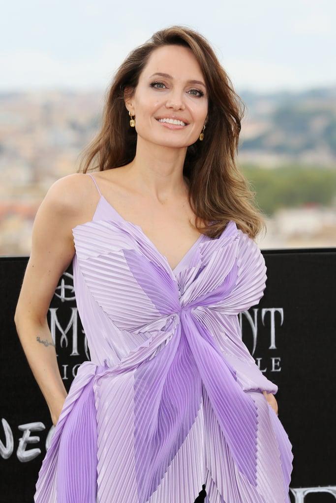See Angelina Jolie's Purple Butterfly Top