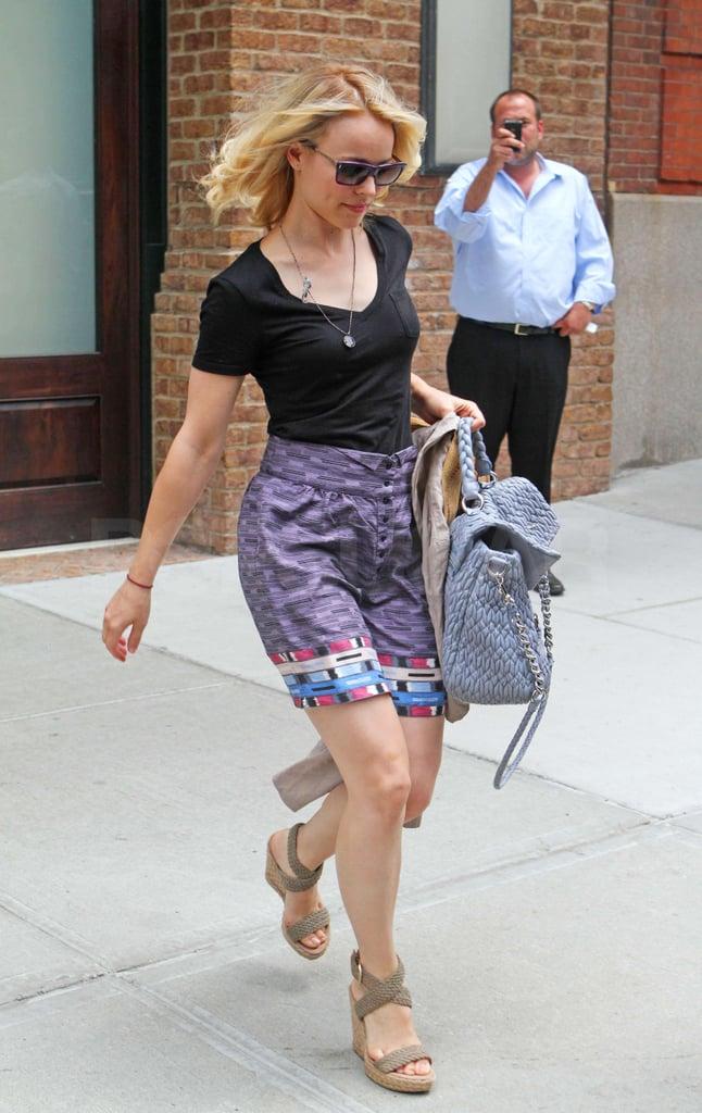 Rachel McAdams Leaving Her New York Hotel