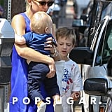 Kate Hudson took Ryder and Bingham out in LA.
