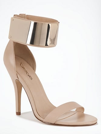 These Bebe Jacqueline metal cuff sandals ($129) would be perfect with a high-low bridesmaid dress so you can really get a glimpse of that sexy gold cuff.
