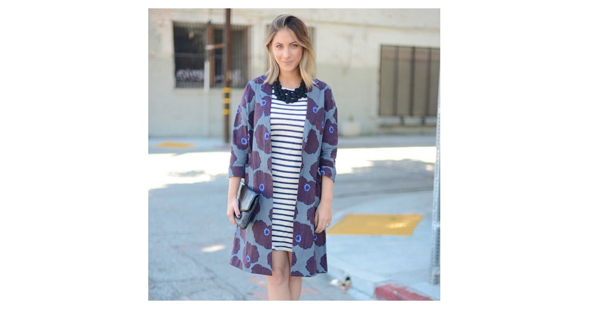 A Graphic Coat, Striped Dress, and Statement Necklace ...