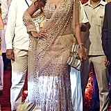 Bollywood Actress Shilpa Shetty Wore an Embellished Sari