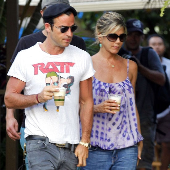Jennifer Aniston Adjusts to Island Living by Taking a Barefoot Stroll With Justin Theroux